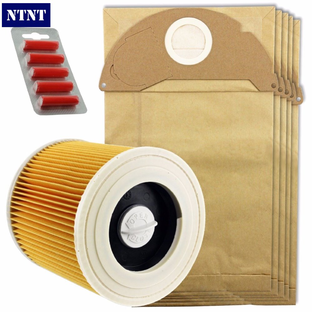NTNT Fast Free Post New 5 Pcs dust dust bag,Fresheners & 1 X Filter Kit for Karcher Vacuum Cleaner A2054,A2064 ntnt free post new 15 pcs dust bag and 1x filter kit for karcher vacuum cleaner a2054 a2064 15 bags