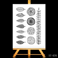 ZhuoAng Flowers / green leaves Transparent and Clear Stamp DIY Scrapbooking Album Card Making Decoration
