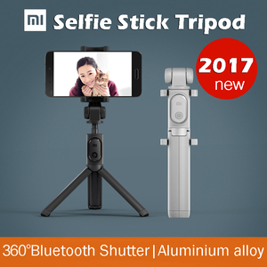 2017 original novo xiaomi mi stan selfie vara tripé perna 360 grau pode ser transformar em torno do bluetooth do obturador para iphone ios android