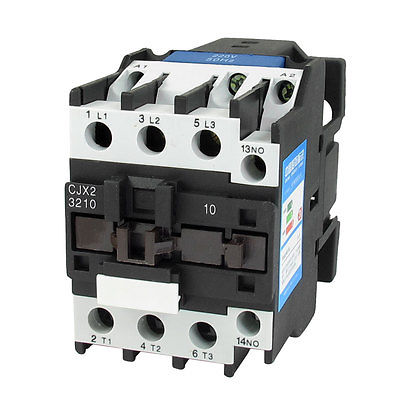 660V 50A 3 Phase 3P NO AC Contactor DIN Rail Mount 220V Coil CJX2-3210 sayoon dc 12v contactor czwt150a contactor with switching phase small volume large load capacity long service life