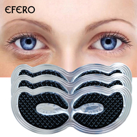 Black Eye Patch 6pcs=3pair Eye Mask Collagen Crystal Ageless Sleep Mask Eye Patches Dark Circles Gel Whey Protein Face Care Mask Facial Care