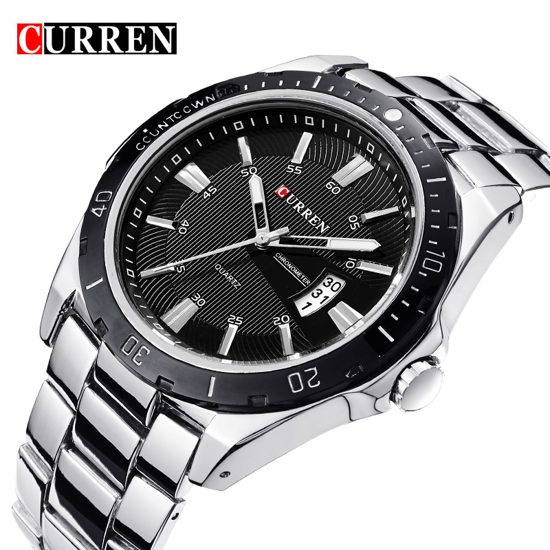 New Watches Men Luxury Brand CURREN Men Sports Watches Waterproof Full Steel Casual Quartz Men's Watch Relogio Masculino Clock weide new men quartz casual watch army military sports watch waterproof back light men watches alarm clock multiple time zone