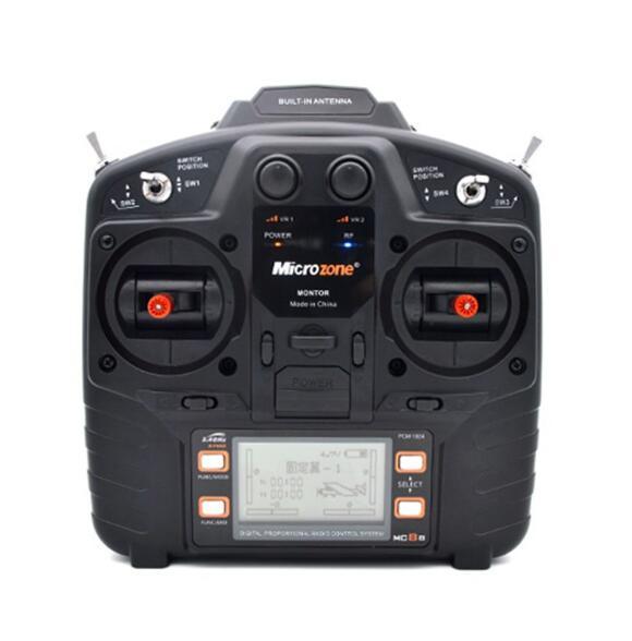 Oyuncaklar ve Hobi Ürünleri'ten Parçalar ve Aksesuarlar'de Microzone MC8B 2.4G 8CH Uzaktan Kumanda Verici ve MC8RE 8CH Alıcı radyo sistemi RC uçak sabit kanatlı helikopter drone'da  Grup 3