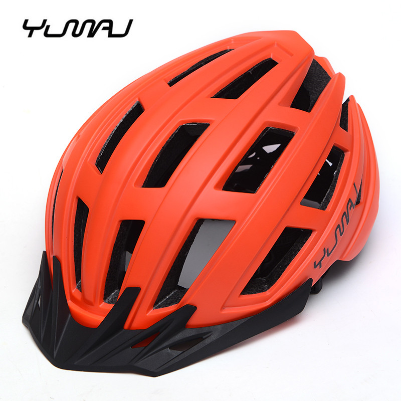 YUMAJ 2019 Ultralight MTB Road Bike Helmet PC + EPS Pad Cover Bicycle Breathable Racing Cycling Safety Helmets with Visor(China)