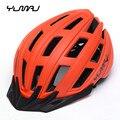Сверхлегкий шлем для горного велосипеда YUMAJ 2019 PC + EPS Накладка для велосипедного дышащего гоночного велоспорта защитные шлемы с козырьком