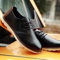 2016 otoño zapatos de tendencia zapatos de cuero aumentaron bajo más tamaño transpirable zapatos casuales masculinos envío libre