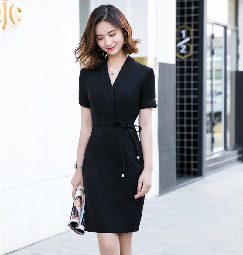 Damen Stretch OL Kleider Party Etuikleid Abendkleid Business Bleistiftkleid 2018