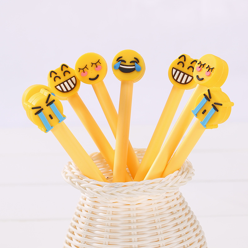 4Pcs/Set Emoji Gel Pens Set Kawaii School Supplies Office Stationary Photo Album  Kawaii Pens Stationery Gel Ink Pen