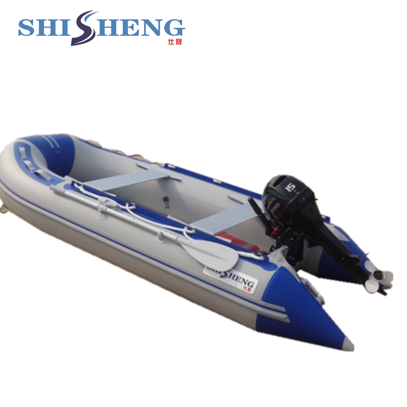 Gray&blue 0.9mm PVC Inflatable Rubber Boats