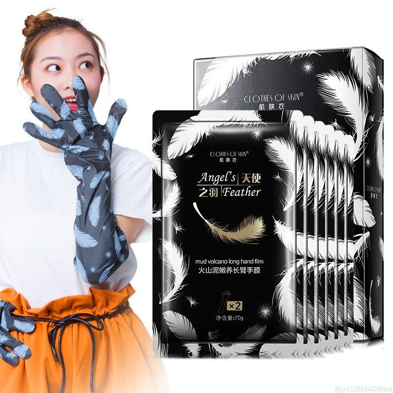 1 Bag Volcanic Mud Long Hand Mask Soft Moisturizing Whitening Anti Wrinkle Remove Hard Dead Skin Hand Spa Skin Care TSLM1