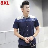 Big Size uomini camicia a maniche corte 8XL Grande e Grosso manicotto mezzo camicia giovane Grande uomo XL 5XL fertilizzante speciale