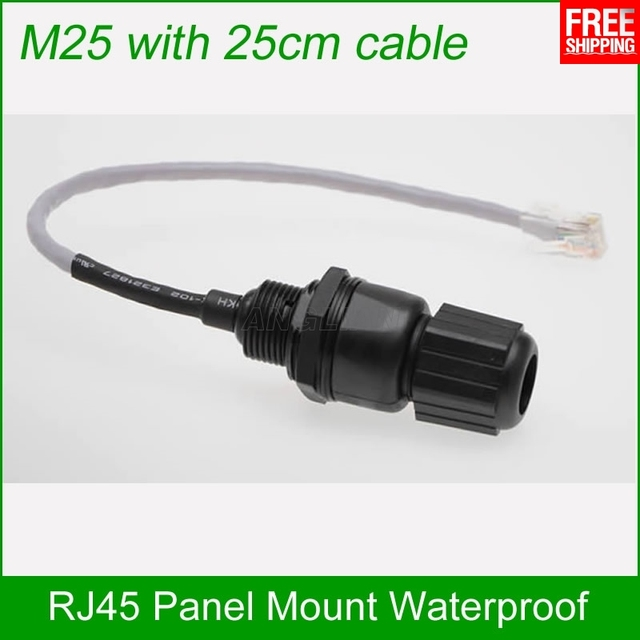 M25 Ethernet Lan Rj45 Waterproof Connector With 25cm Cable High Quality Ip67 Protection Ap Box Plug