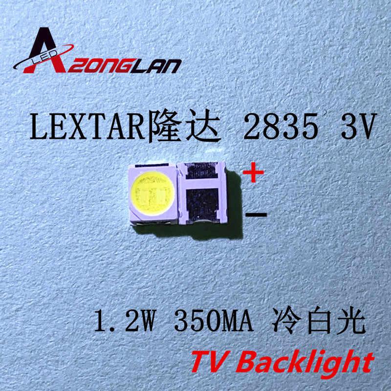 50 Pcs Lextar Electronics Corp Lampu Belakang LED 1210 3528 2835 3V 250ma Keren Putih Innotek LCD Lampu Latar LED TV Aplikasi