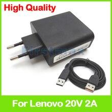 20 V 2A 5.2 V 2A USB Adaptador de Corriente AC para Lenovo Miix 700-11ISK 700-12ISK 700-14ISK ADL40WCA ADL40WCB 36200561 36200562 ADL40WCC