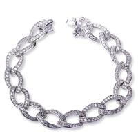Copper Bracelet rhodium plated with white cz charming bracelet trendy bracelets for girl new design Free shipment