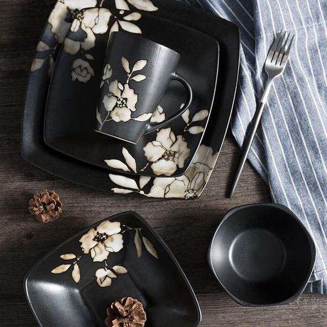 Japanische Keramik Geschirr Abendessen Set Geschirr Sets Küche ...
