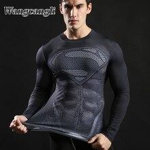 wangcangli Anime Iron Tops print Men 3d t shirt Tees Compression Fitness man's T-shirts Camiseta Male Streetwear Summer Tshirts