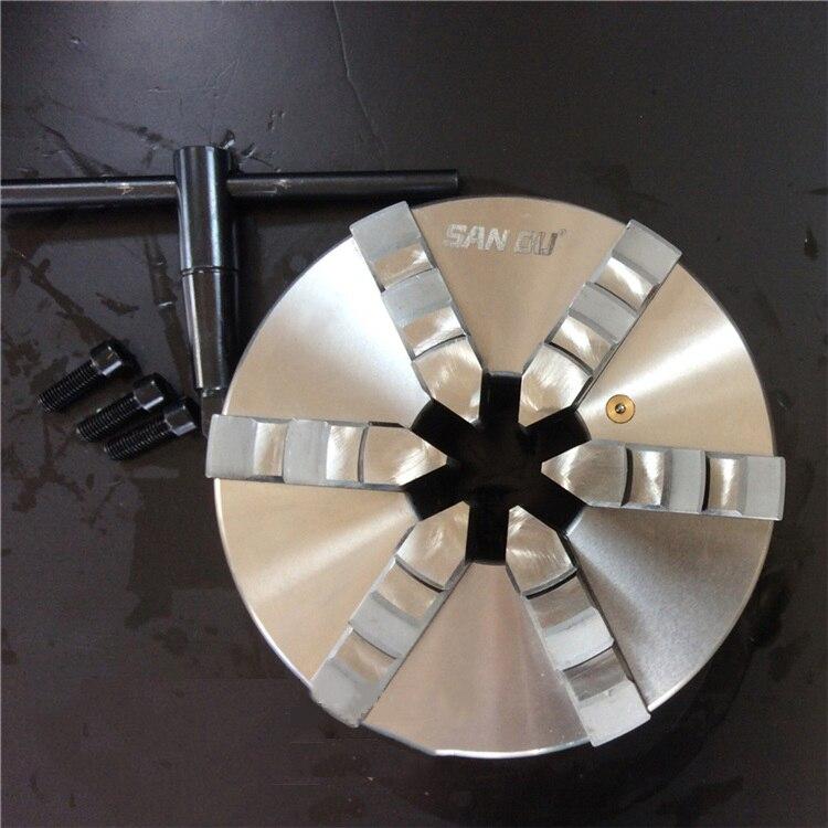 SAN OU Высокое качество 6 челюсти самоцентрирующийся токарный патрон 10 ''250 мм Chuck шесть челюсти K13 250 для токарного станка Фрезерное сверло Новы