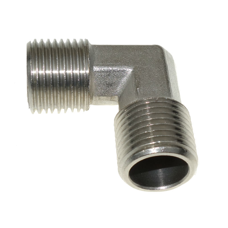 """1//8/"""" Female X Male  BSPP Nickel Plated Brass Pipe Fitting Street Elbow"""