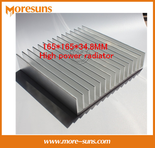 Fast Free Ship Industrial heat sink Aluminum radiator panel 165*165*34.8MM High power radiator  free ship 5pcs lot with three holes high power round led lamp bead aluminum radiator 41 22 25mm sunflower aluminum heat sink