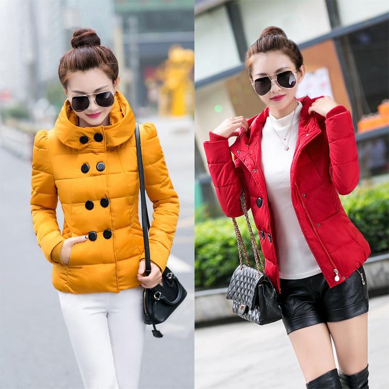 2017 Down jacket Women short paragraph Korean Slim was thin winter fashion thicker coat large jacket