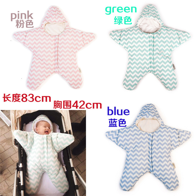 Baby Boy& Girls Cute Cartoon stripes five-pointed star shape cotton Sleeping Bag 2017 New Fashion Hot sales spring Autumn warm