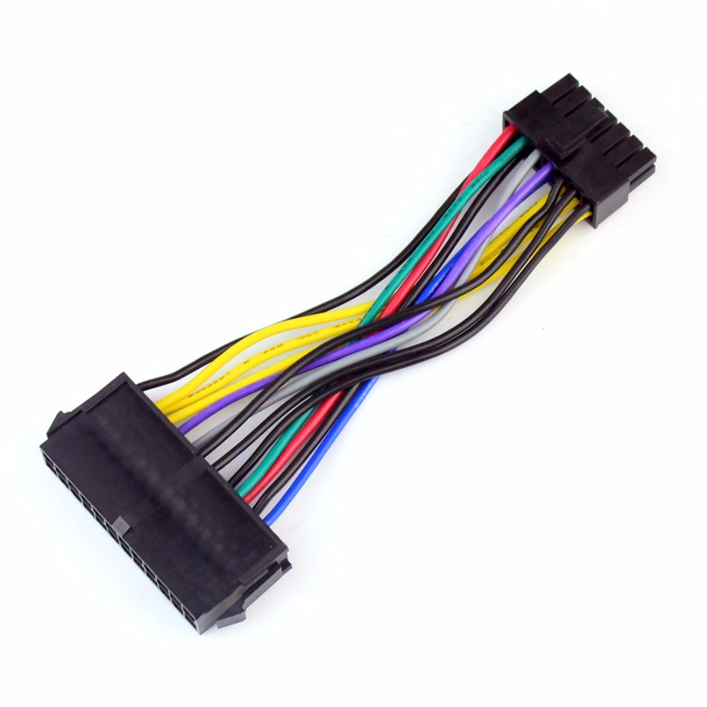 24 Pin to 14 Pin Power Line Data Conversion Line Adapter for Computer Network Supporting Lenovo IBM Dell Q77 B75 A75 Q75