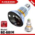 """EAZZYDV BC-681M Bombilla Espejo Cara de la Seguridad Casera DVR Cámara CCTV 1/4 """"CMOS IR LED Lámpara Incorporada Batería Soporte de Tarjeta TF"""