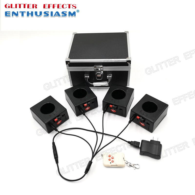 BD04 4 channels rechargable receiver remote control fountain base wedding fire machine|Stage Lighting Effect| |  - title=