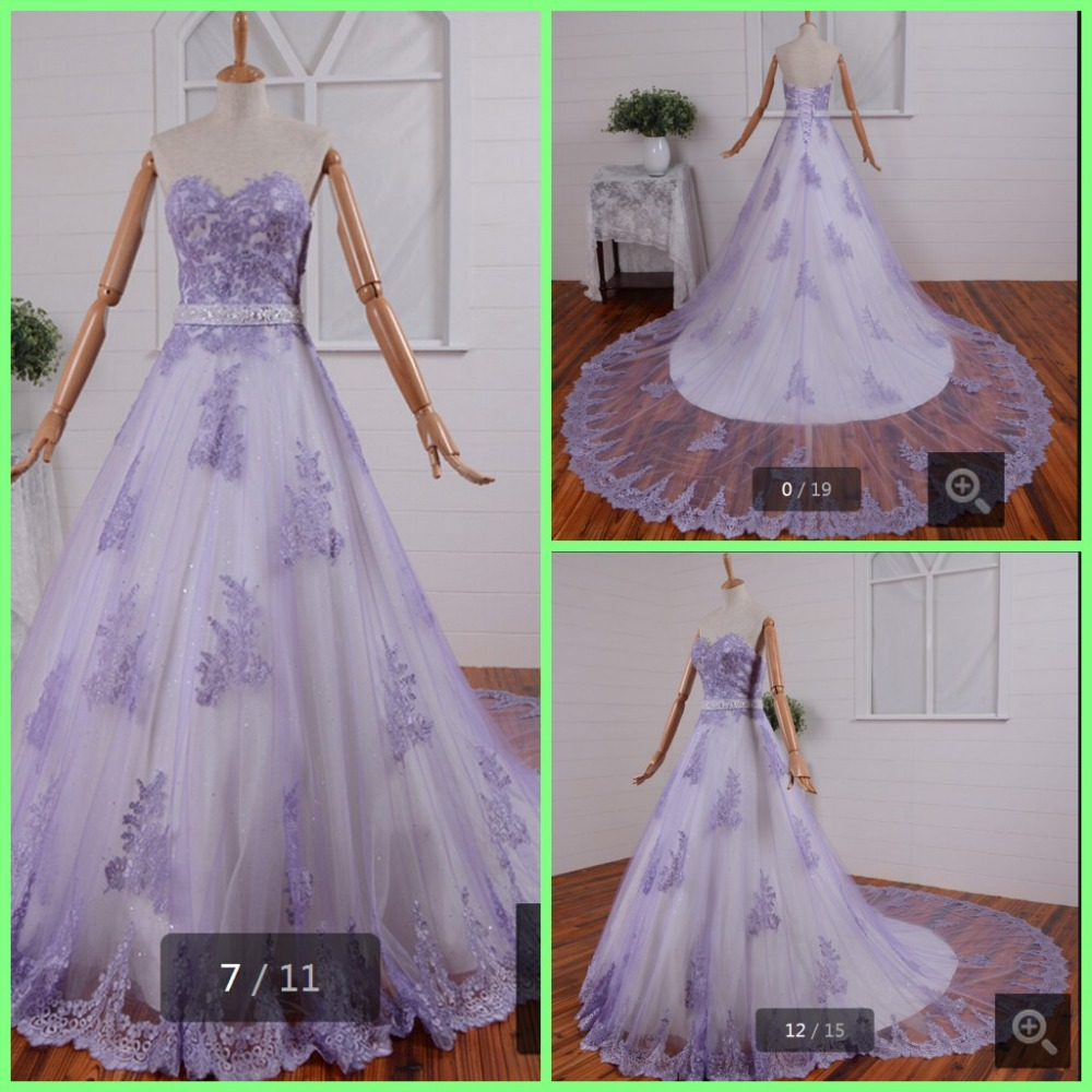 Online buy wholesale purple white wedding dress from china for White wedding dress with lavender