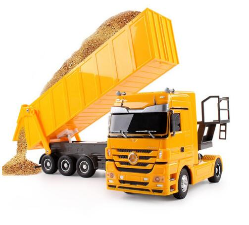 RC Dump Truck 1:32  10 Wheel Tilting Cart Radio Control Auto Lift Vehicle Electronic Hobby Toys For Children