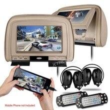 """XTRONS Bege 2×9 """"Tela Digital Monitor de Encosto De Cabeça DVD Player Do Carro com 2 IR Headphones 8 Bits & 32 Bits Jogos"""