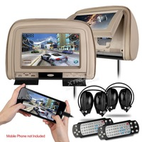 XTRONS Beige 2x9 Digital Screen Car Monitor Headrest DVD Player with 2 IR Headphones 8 Bits & 32 Bits Games