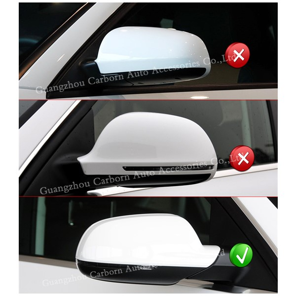 For Audi A4 B8 5 A5 S5 RS5 2010 2014 Replacement Style Carbon Fiber Mirror Cover Rear View Side Mirrors with Turn Light Signal in Mirror Covers from Automobiles Motorcycles