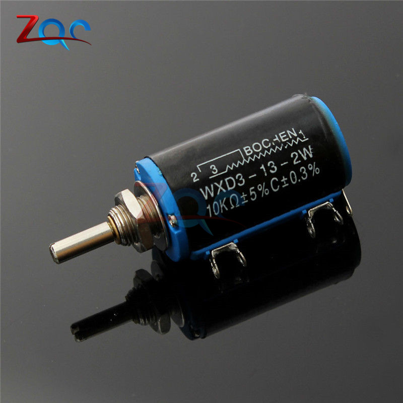 WXD3-13-2W 10K ohm Multiturn Wirewound Potentiometer Adjustable Resistor ceramic wirewound rls50r50 euro 50r1 733a variable resistor potentiometer
