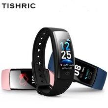 TISHRIC QS90 artı Smartband spor izci kan basıncı ölçümü su geçirmez kadınlar erkekler için Xiaomi/Huawei/Iphone 7 akıllı bilezik