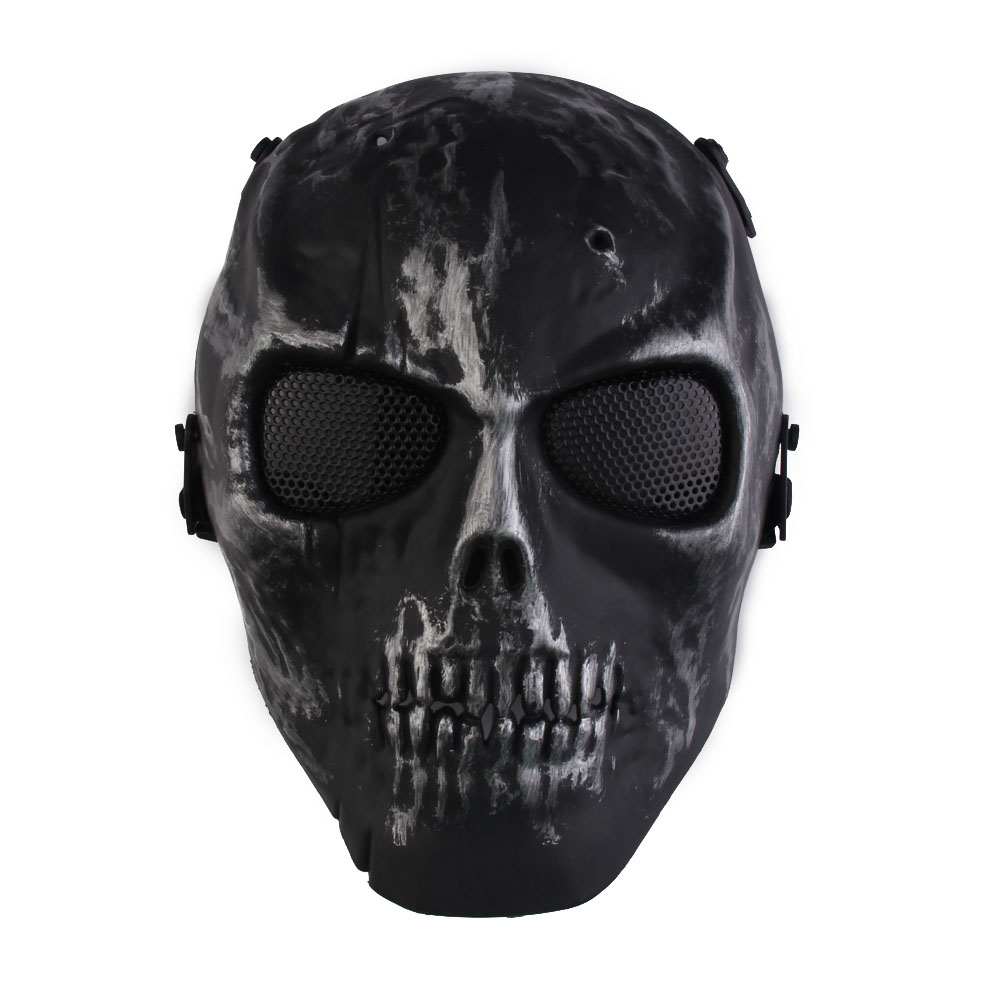 New Sport Skull Skeleton Airsoft Paintball War Game Full Face Protection Hunting Mask Guard Hot Sale