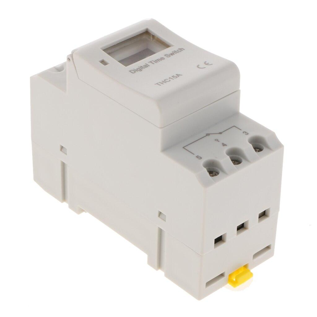 Flamme Widerstand Elektronische LCD Power Timer Programmierbare Zeit Schalter Power Relais Din-schiene 12V DC/AC, 86x65x36mm