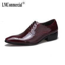 купить High-heeled Men's Shoes Suit Cowhide British Genuine Leather Shoes Men,Lace-Up Business Men Shoes,Men Dress Shoes spring autumn онлайн