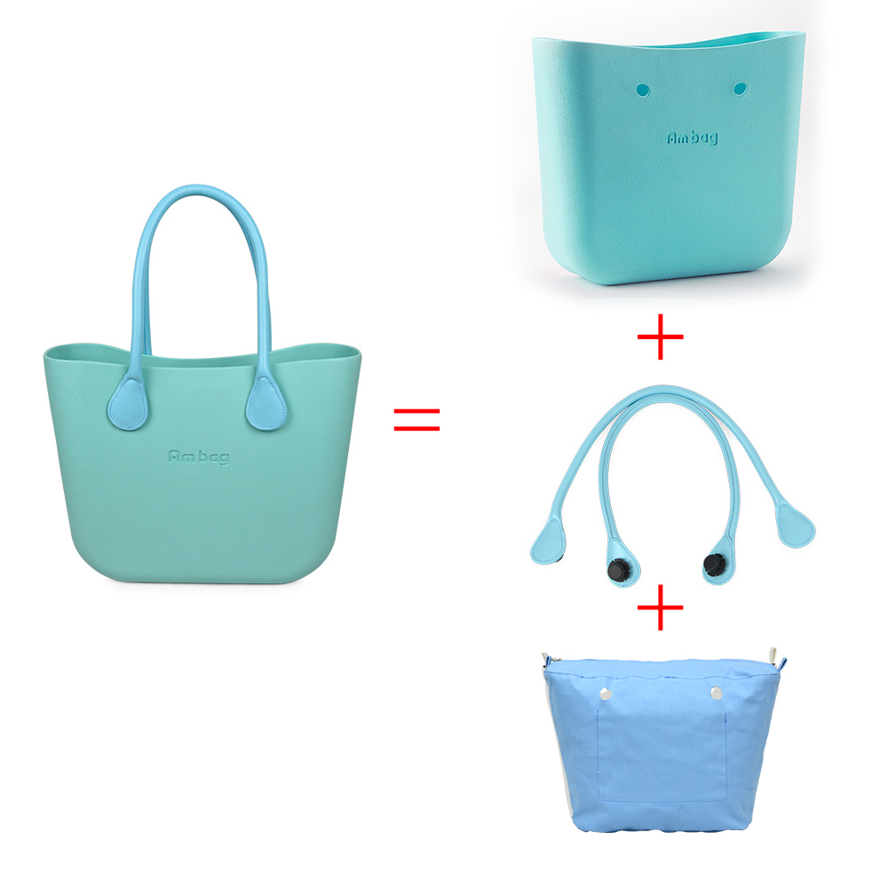 ANLAIBEIER Obag O Bag Style Waterproof Classic Ambag Women 39 s DIY EVA Handbag with Lining Insert Colorful Leather PU Handles in Top Handle Bags from Luggage amp Bags