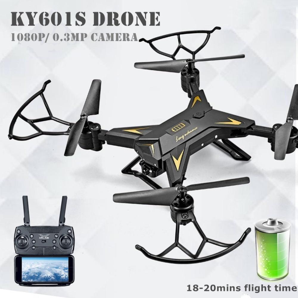 Profesional KY601S de Control remoto con cámara Quadcopter Drone helicóptero 4 canales de larga duración plegable brazo aviones