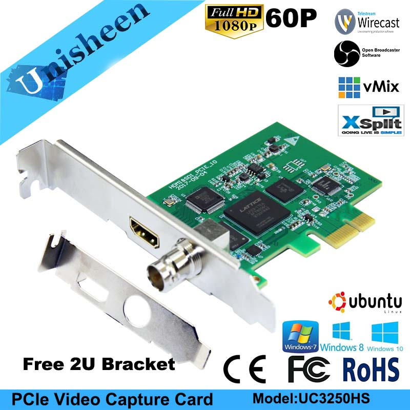 Карта видеозахвата PCIe 60FPS HDMI SDI видеозапись карта игра потоковая прямая трансляция 1080P VMix беспроводной OBS Xsplit - 2