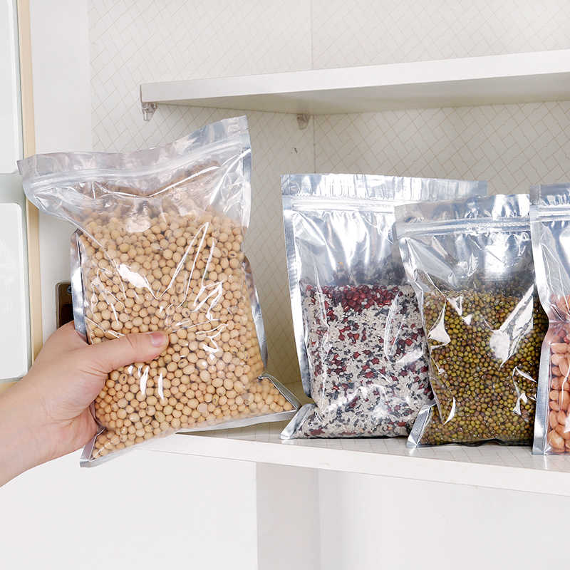 Bags & Baskets Thick transparent food storage bag nut moisture-proof  Ziplock bag dried fruit tea
