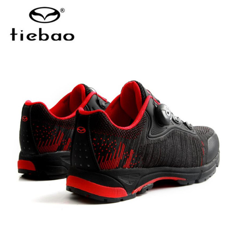 Купить с кэшбэком Tiebao Professional Leisure Cycling Shoes MTB Bike Bicycle Shoes Sneakers Auto-Lock Athletic Racing Shoes Outdoor Touring Shoes