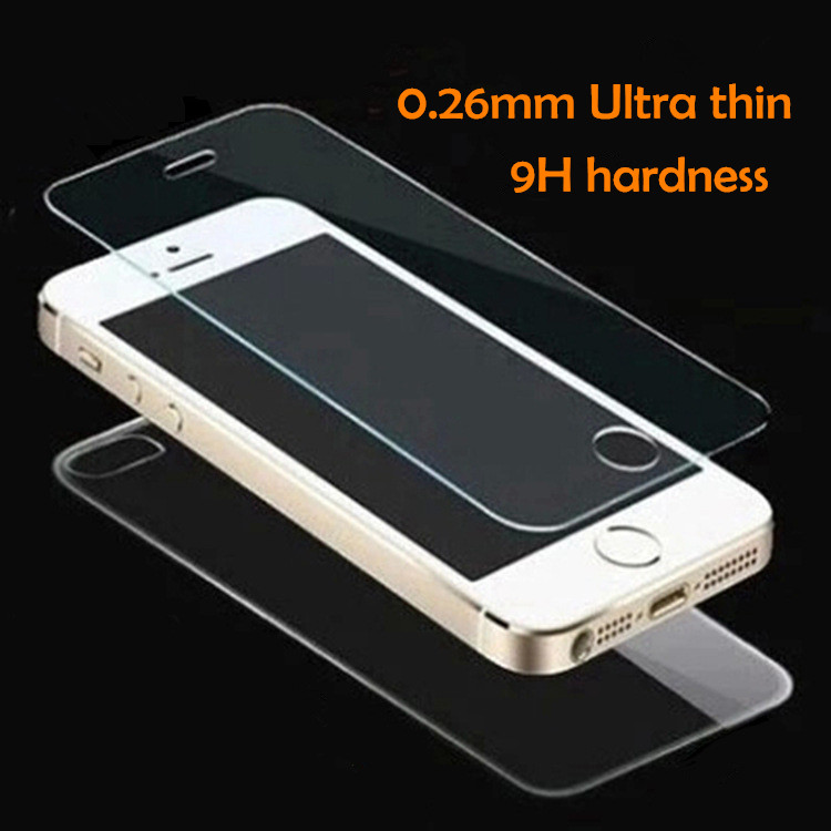 2pcs/lot front+back Tempered Glass For iPhone 5 5S 6 6s plus 4 4S Screen Protector Film Full Body Glass On the For iPhone 5S SE