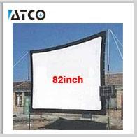 проект 3д Серра экран 100 дюймов 16:9 без рамки ткань экран для домашнего катетер проектор с высокой контрастностью театра ткань