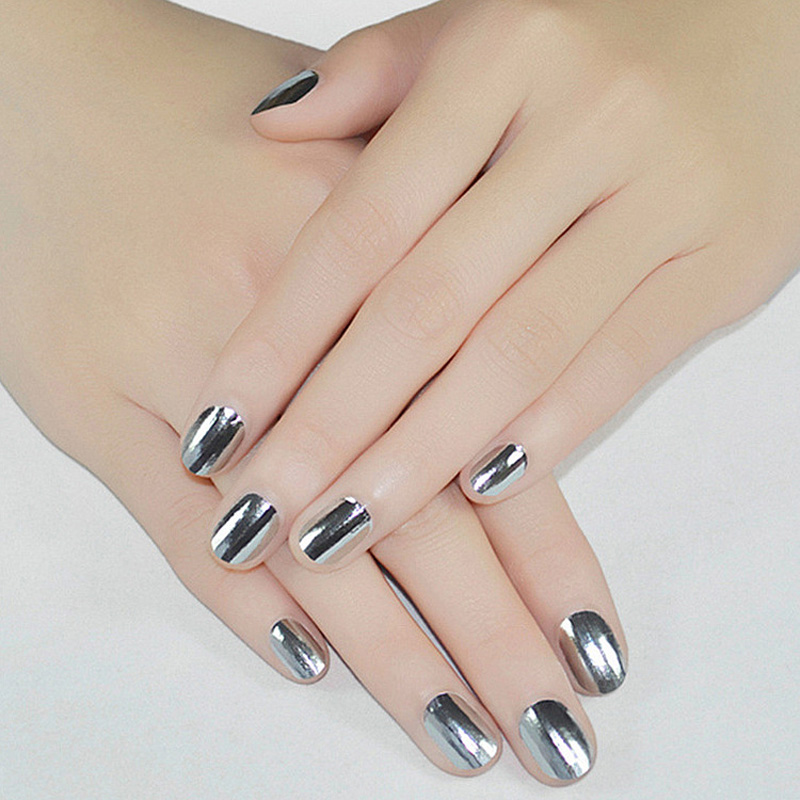 Aliexpress Professional Nail Art Sticker Paper Mirror Gl Foil Tips Decal Gel Polish Nails From Reliable Suppliers