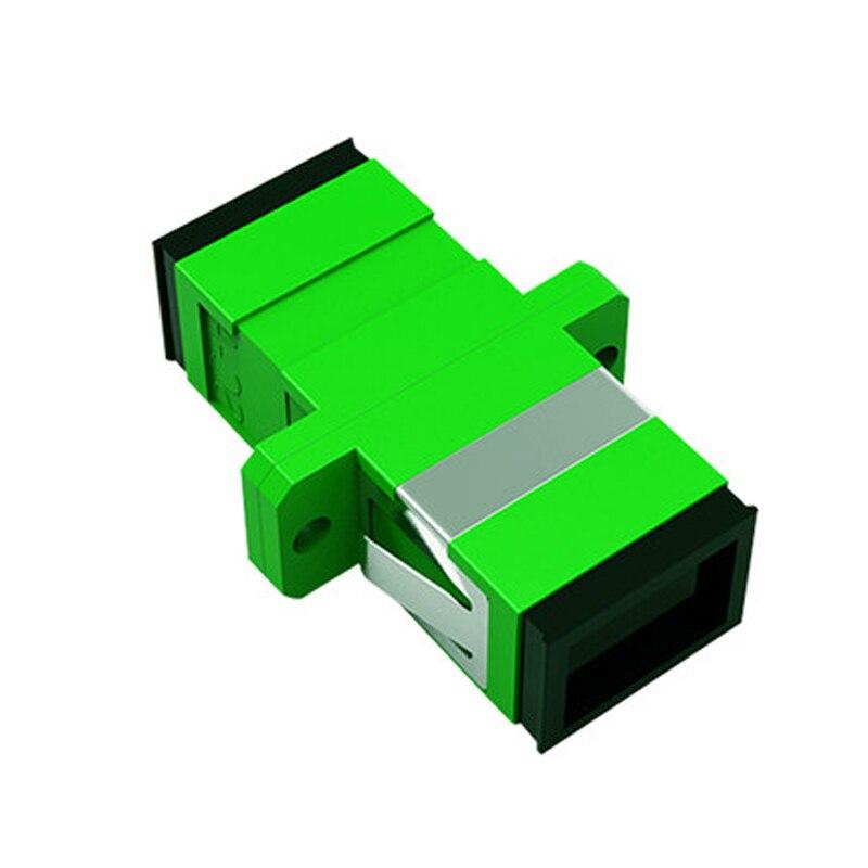 500 PcsSC APC Simplex Mode Fiber Optic Adapter SC APC Optical Fiber Coupler SC Fiber Flange Free Shipping