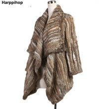 Женские меховые пальто, цветное пальто из натурального кроличьего меха, Женская Роскошная вязаная зимняя куртка из натурального кроличьего меха, новинка, меховое пальто