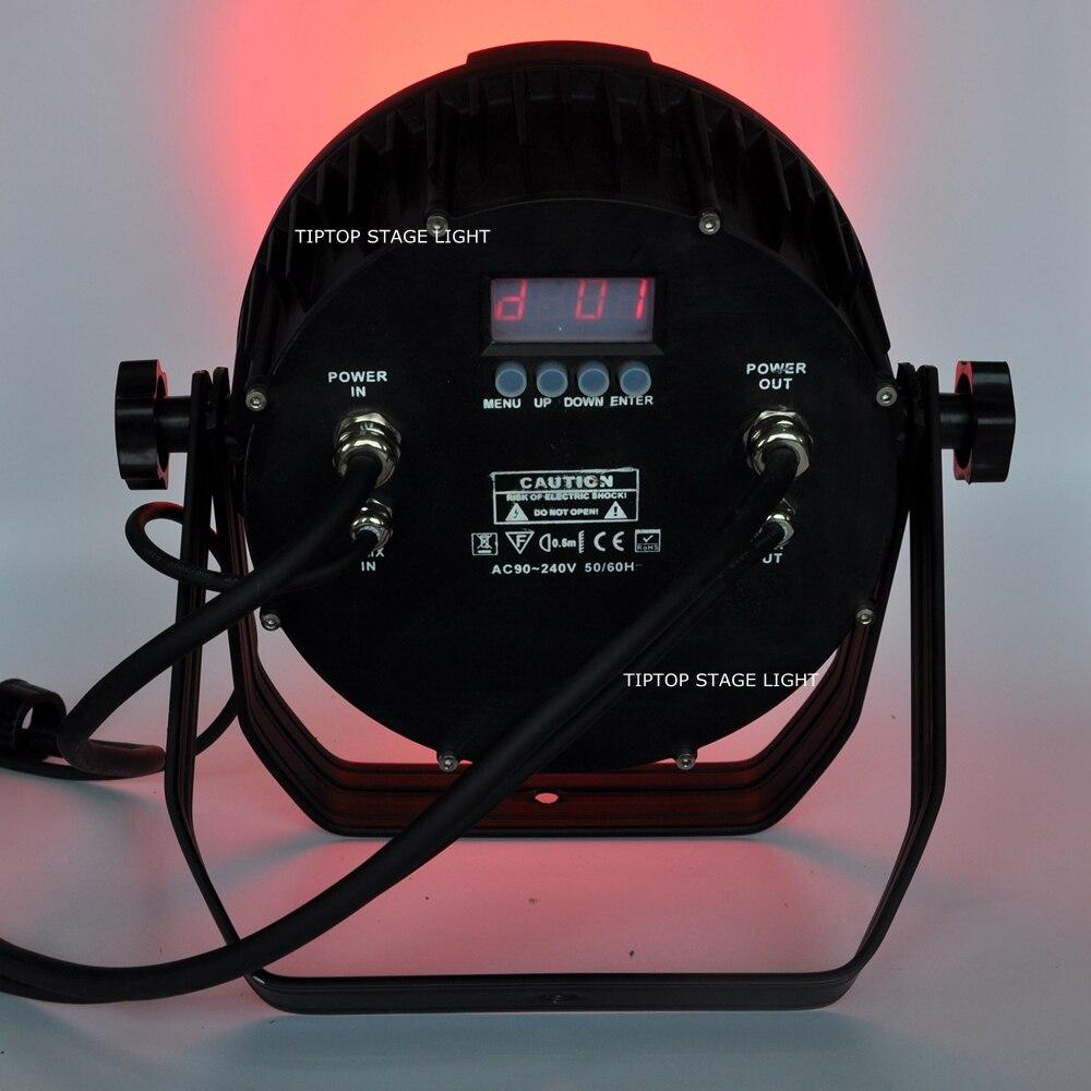 Gigertop TP-P109 Professional 220W LED Slim Par DJ Light RGBW Amber Ultraviolet Can 64 LED Stage Lighting - DMX512 controlled